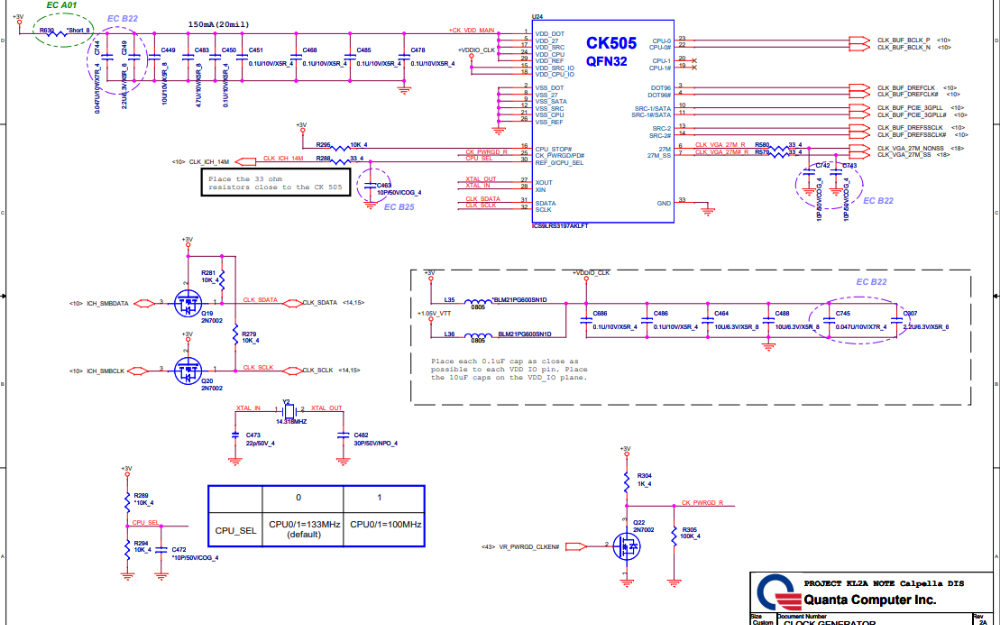 联想Y460笔记本电路原理图免费下载