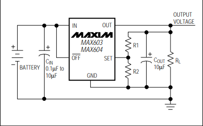MAX603和MAX604线性调节器的数据手册免费下载