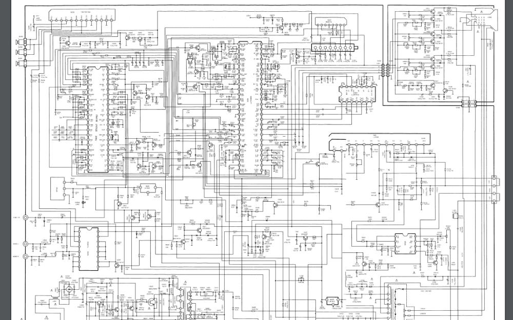 康佳T2530D1彩色电视机电路原理图免费下载