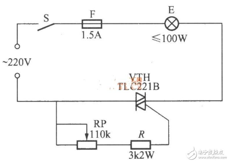 多款双向晶闸管调光电路图片