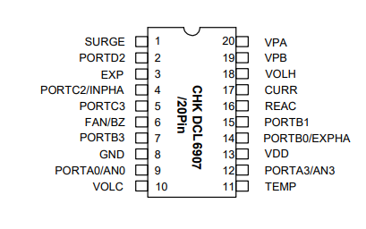 CHKDCL6907電磁爐專用單片機的數據手冊免費下載