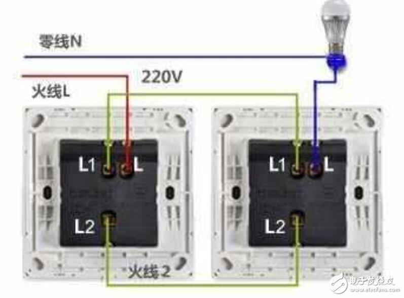 雙控開關的工作原理圖_雙控開關內部構造圖片