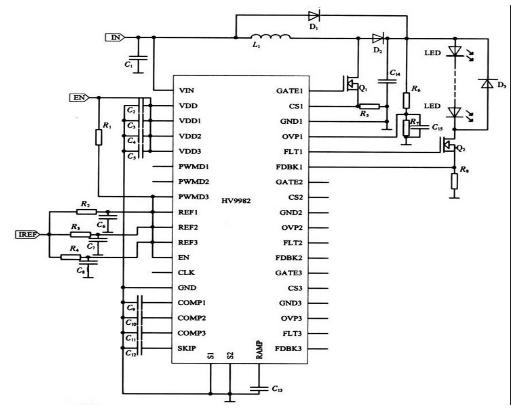 大功率背光源用LED驱动※电路的三种驱动设计