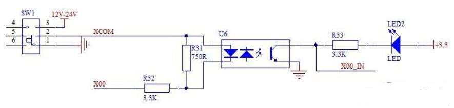 PLC开关量输入信号隔离电路设计