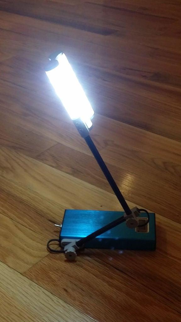可调移动灯泡的制作