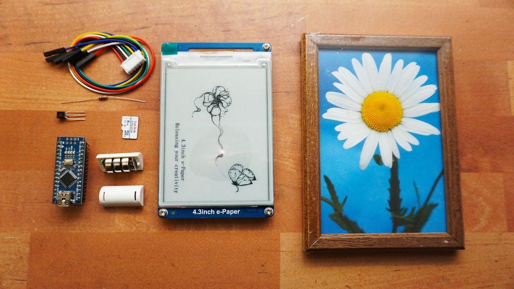 如何制作一个带有电子墨水显示屏的数码相框