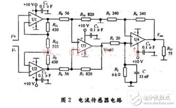电流传感器电路图
