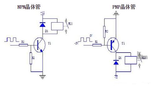 NPN三极管驱动继电器原理