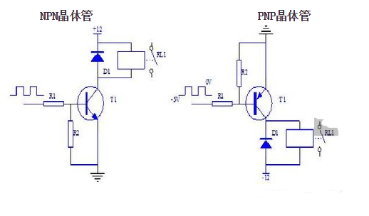 NPN三極管驅動繼電器原理