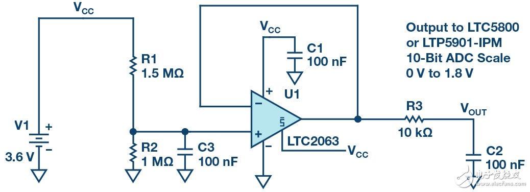 采用LTC2063和LTP5901-IPM展示的远程检测实例