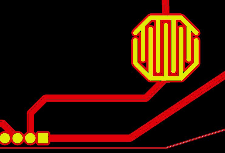 pcb按鍵板設計,線路層鋪銅異常示意圖1