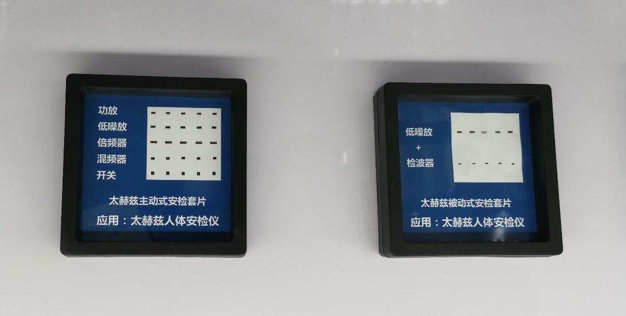 雄安太芯展示的太赫兹主动式安检套片和太赫兹被动式安检套片