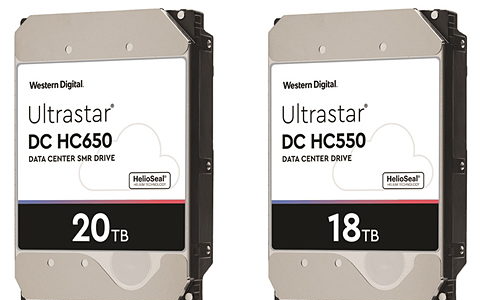 西部數據在2020年推出全球最大容量的20TB硬盤