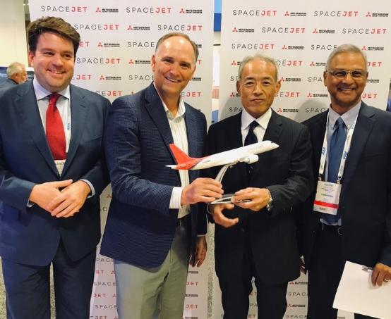 三菱飞机公司与梅萨航空签署了100架SpaceJet M100飞机谅解备忘录