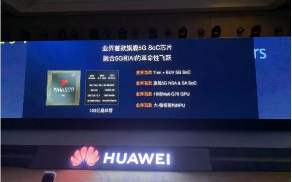 华为发布首款5G芯片麒麟990 Mate30将搭载