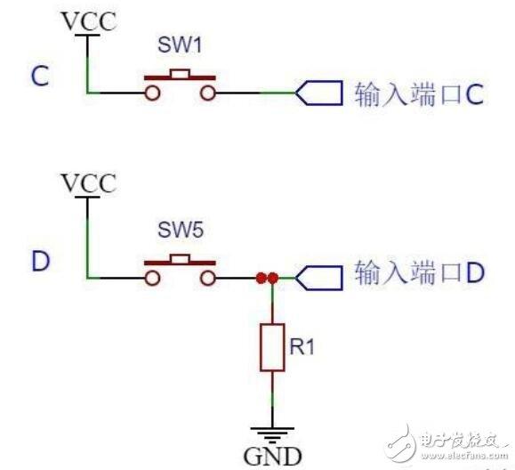 上拉/下拉电阻电路分析