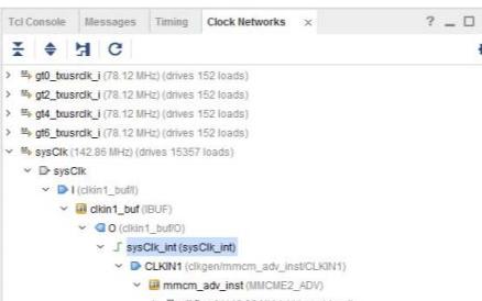 从时钟引脚进入FPGA后在内部传播路径