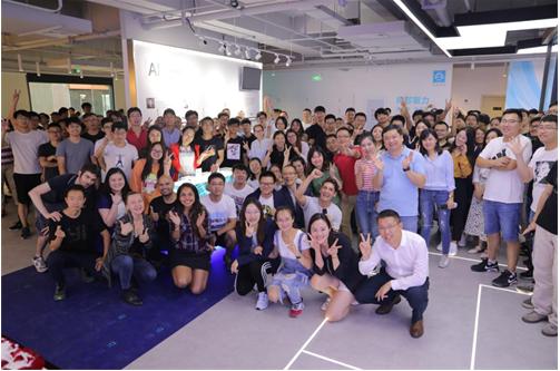 小蚁科技在张江人工智能岛9号楼举行5周年员工答谢...