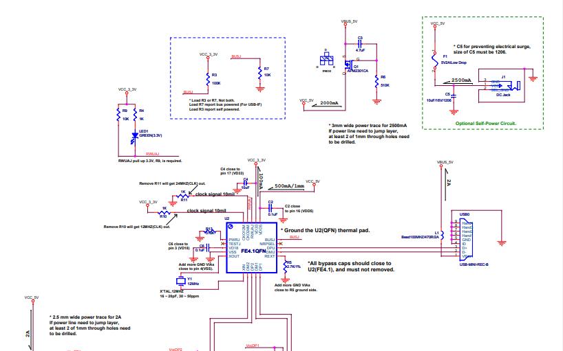 FE4.1QFN20的电路原理图免费下载
