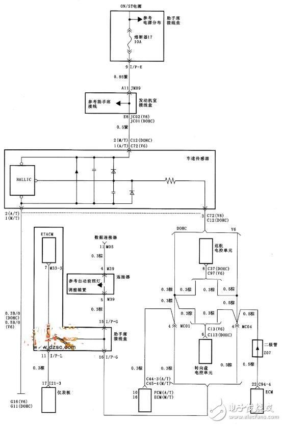 車速傳感器的作用_車速傳感器電路圖