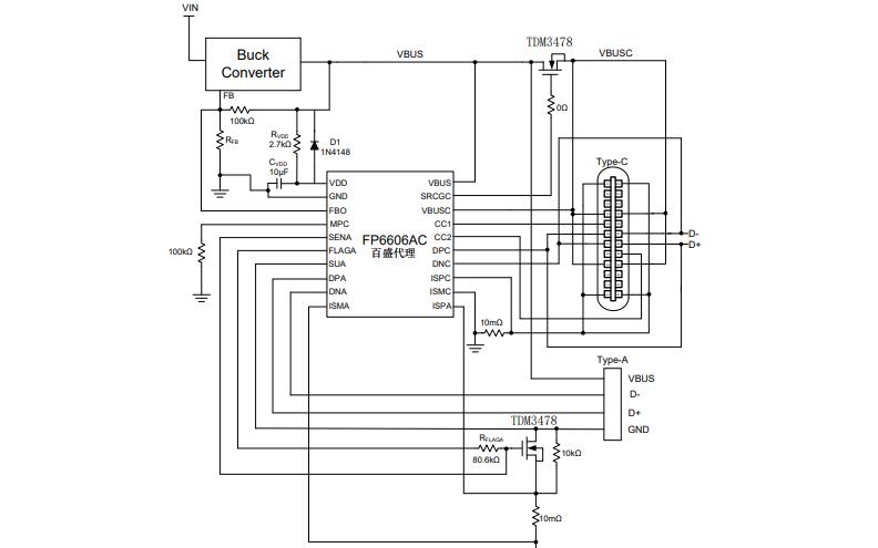 FP6606AC USB双端口充电控制器的数据手册免费下载