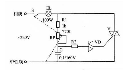 simple stepless dimmer circuit diagram - hqew.net  hqew.net