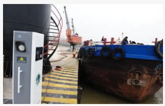 浙江萧山首个内河智能岸电系统在江顺建材码头正式投...