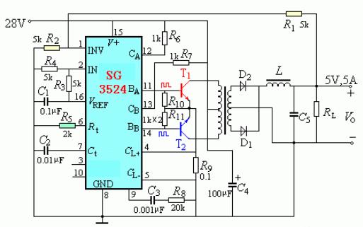 开关稳压电源原理图及其PCB图资料合集免费下载