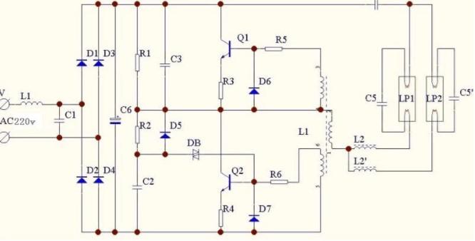 電子節能燈的原理及電子組成部分分析