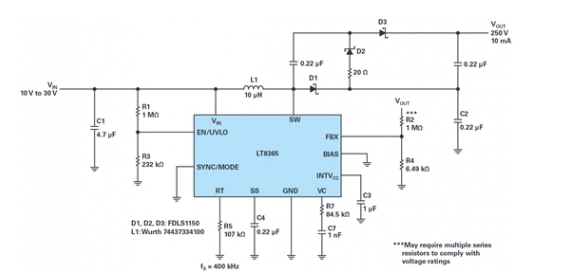 通信应用的高压升压和反相转换器怎样来设计