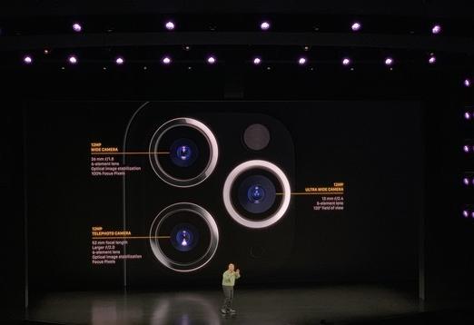 iPhone 11 Pro系列将成为苹果首款三摄手机支持4K 60fps的视频拍摄