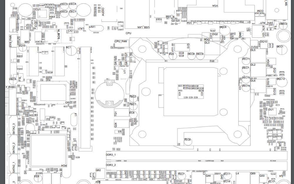 技嘉GA-H61M-DS2.3.0点位图免费下载