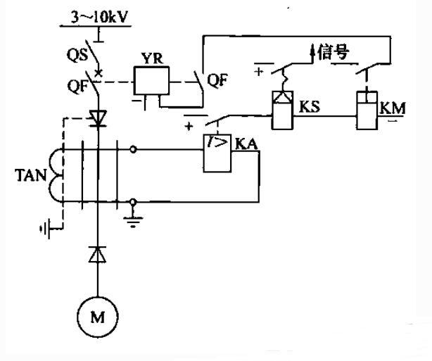 高压电动机的保护电路图
