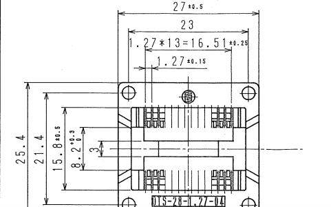SOP28 IC烧录座的规格尺寸图免费下载
