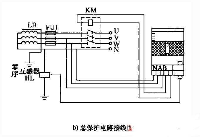 脉冲无声运行总保护器电路图