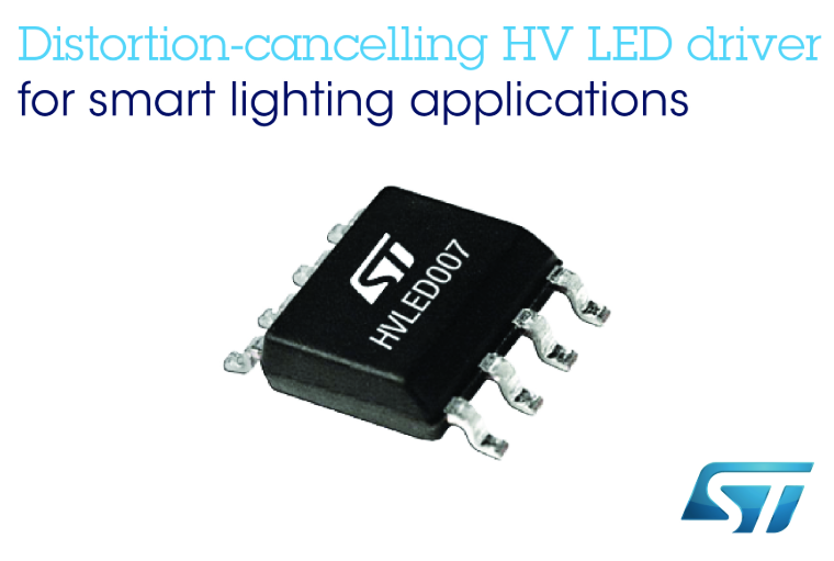 讓節能燈具面向未來:意法半導體推出低失真高壓LED驅動器
