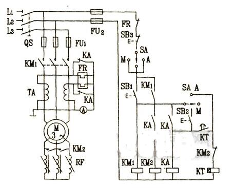 三相电动机启动控制电路图