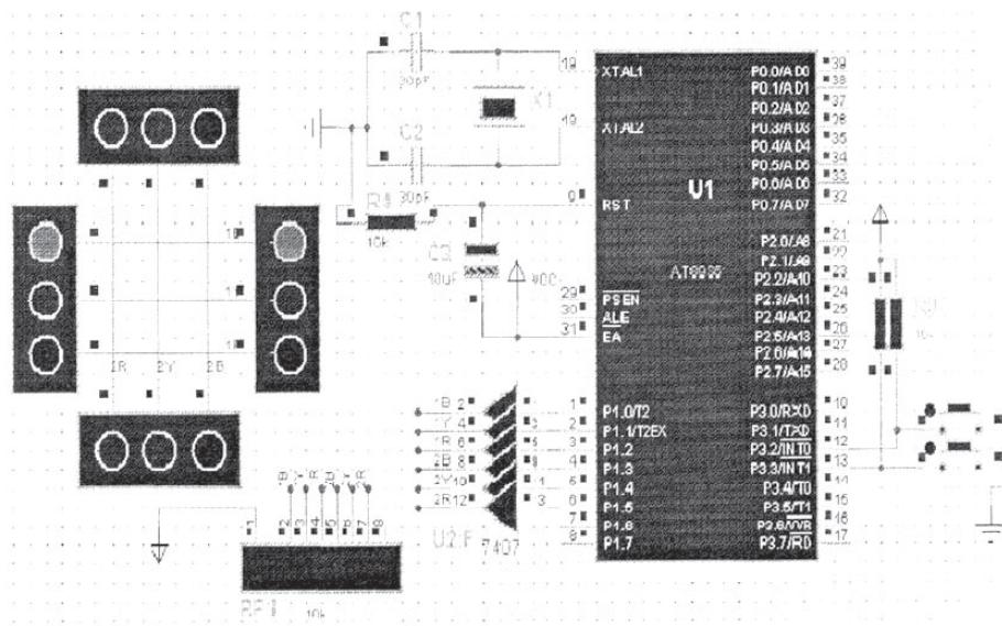 使用AT89S51单片机进行交通灯控制器的仿真与实现
