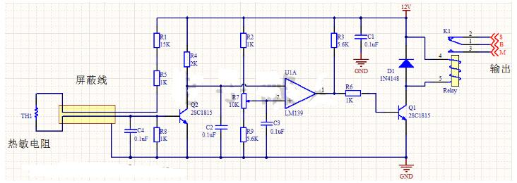 感温动作控制器电路讲解