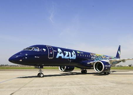 蔚藍航空公司成功接收了首架巴航工業E195-E2飛機