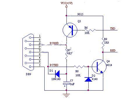 rs232与ttl电平转换电路图