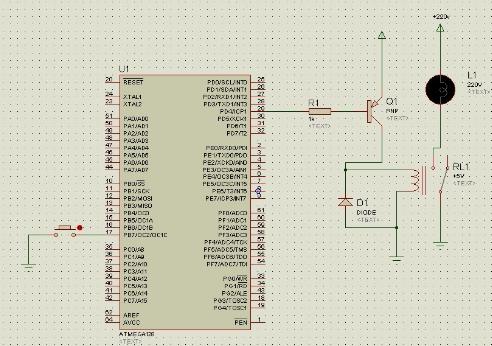 AVR单片机控制继电器吸合与断开的仿真设计