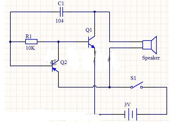 多谐振荡器电路原理图