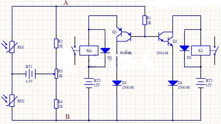 识别物体移动方向电路图