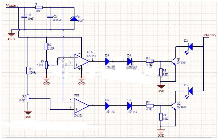 汽车12V蓄电池电压监视电路分解