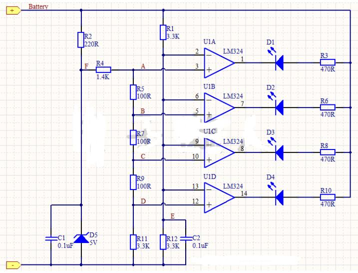 铅酸蓄电池电量指示电路的工作过程