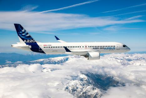 空中客車在北京航展上展出了A350-1000飛機A330neo飛機和A220飛機