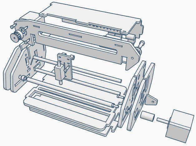 A4盲文压纹机的制作
