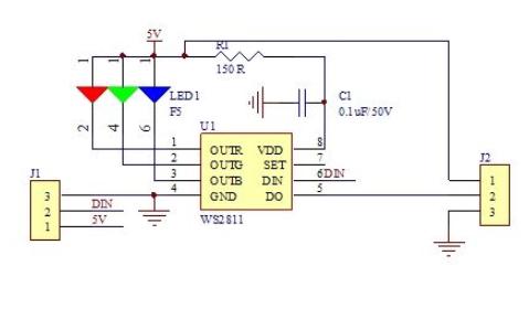 WS2811 RGB LED灯珠的主控程序和工程文件免费下载