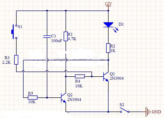自锁电子开关电路图讲解